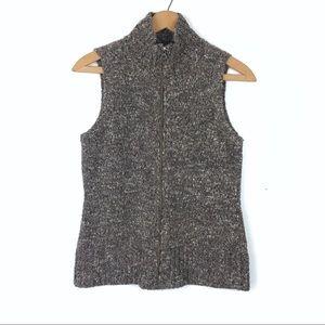 J. Jill Alpaca Wool Blend Zip Sweater Vest